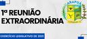 1ª REUNIÃO EXTRAORDINÁRIA DO EXERCÍCIO LEGISLATIVO DE 2021