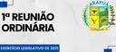 1ª REUNIÃO ORDINÁRIA DO EXERCÍCIO LEGISLATIVO DE 2021